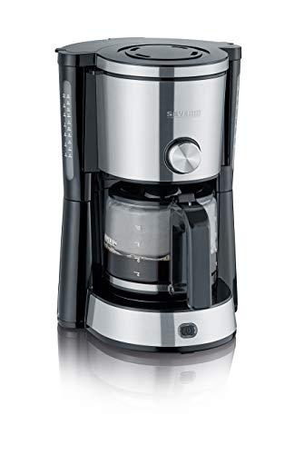 SEVERIN KA 4825 Type Switch Kaffeemaschine (Für gemahlenen Filterkaffee, 10 Tassen, Inkl. Glaskanne) edelstahl/schwarz