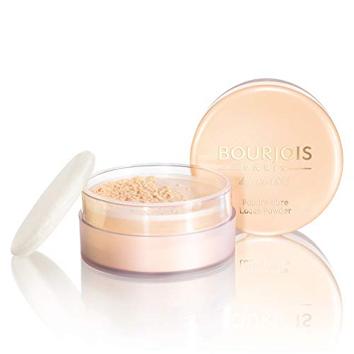 Bourjois - Poudre Libre - Fixe Le Maquillage Sans Dessécher La Peau - Teint Matifié et Unifié - 01 Pêche 32gr