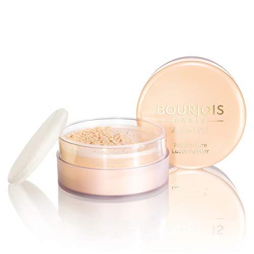 Bourjois - Poudre Libre - Fixe le maquillage sans dessécher la peau - Teint matifié et unifié - 02 Rose 32gr