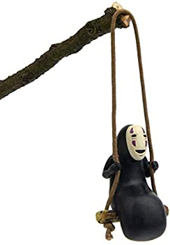 No Face Man Action Figure Swing Anime Toy Home Gardening Decor Micro Landscape Decoration Ornaments Resin Crafts Doll