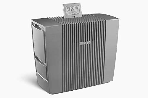 Venta Hybrid AH902 Professional, Two in One: Luftbefeuchtung durch Luftwäsche mit gleichzeitiger Luftreinigung von Allergenen, Feinstaub + Viren, für Räume bis 70 m², grau