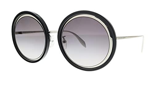 Alexander McQueen Gafas de Sol AM0150S Black/Grey Shaded 53/22/145 mujer