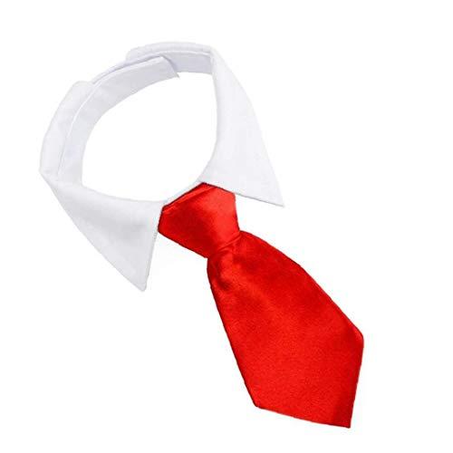 NIDONE Collar de Perro Mascota del Lazo Corbata, Look Caballero Ajustable con Rojo, Rayas por un Traje de Gato Cachorro Perros pequeños Pajarita, Mascotas Accesorios Formal y estética