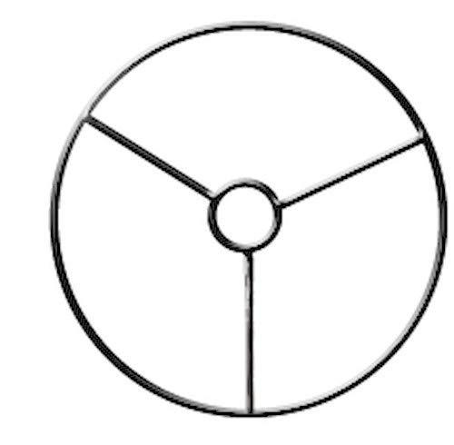Armature abat-jour cercle avec bague Ø 15 cm - Graines créatives