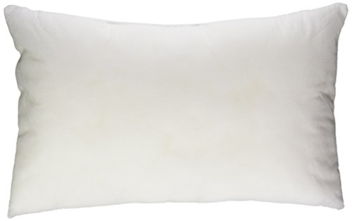 COVER-10x16 Inch White Cotton-Blend Zippered Rectangular Throw Pillow Cover
