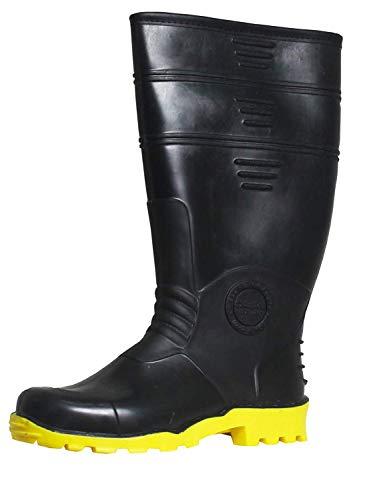 Duckback Men/Women Yellow Sole PVC Super Safety Gum Boot Wellington Boot Size 8