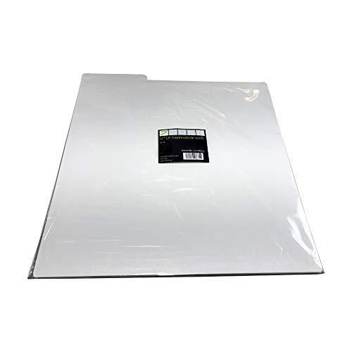 Platten scheidingswanden in wit / 10 stuks LP archiefwand