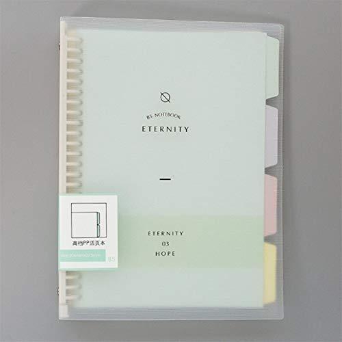 Cuadernos de diario en blanco de papel rayado plan Hoja suelta Núcleo interno Macaron Note Boo Material escolar de oficina Carpeta de anillas A5 B5 Cuaderno cuaderno Planificador Paquete de trabajo es