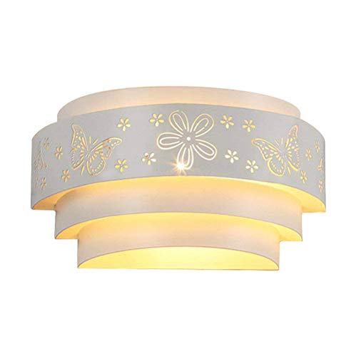 Coquimbo Lampada da Parete a LED Applique da Parete Interni Vivid Farfalla forma Decorazione per Camera da Letto, Soggiorno, Cucina, Colore Bianco (lampadina non includere)