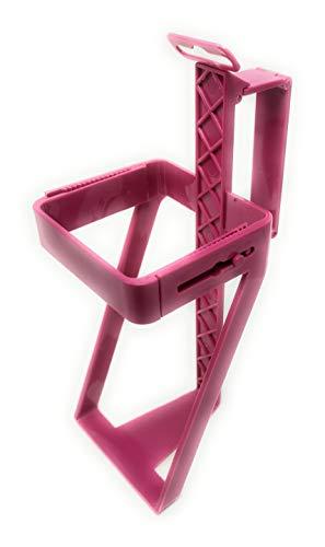 FoxFix Getränkekartonhalter Pink der Milch und Saft Karton Halter Ultra Leicht, passend zu Allen Tetraeder Verpackungen, bis 1,5L Griff faltbar