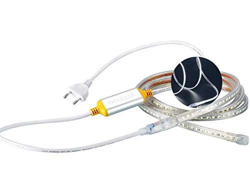 Preisvergleich Produktbild Ogeled 1-50M Led Strip 60 LEDs je meter Slim Led-Strifen wasserfest Dimmbar 230V (Kaltweiß,  20M)