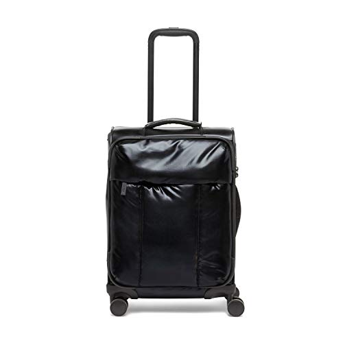 CALPAK Luka Carry-On Luggage Metallic Black Softside Spinner Suitcase