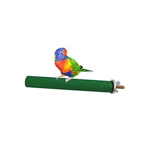UEETEK Perchas para Bird Cage Parrot Plastic Stand Rack Juguete Loros Jaulas Toy