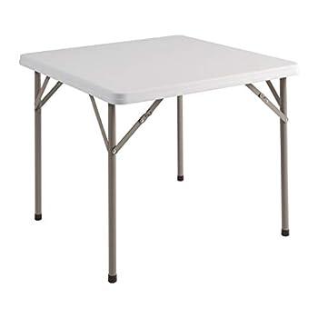Bolero Table carrée pliable 860 x 860 x 740 mm