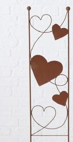 Edelrost Rankstab mit Herzen 100 x 26 cm Gartenstecker Rankhilfe Dekoration