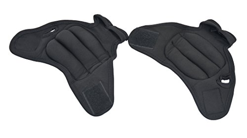 Set of 2 Black Source Fitness Heavy Duty 2lb Pair Weighted Sculpting Gloves