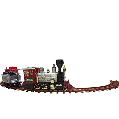 258108 Tren para árbol de Navidad a pilas con luces y sonidos 36 piezas 80x19 cm