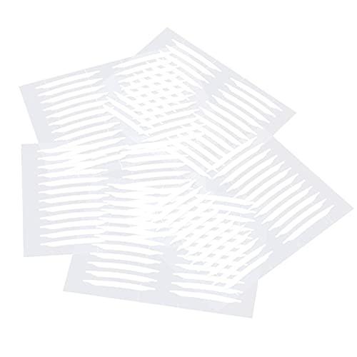 EXCEART Paupière Bande Invisible Seul Côté Double Paupière Bandes 30 Feuilles Bandes de Levage Autocollants pour À Capuchon Tombantes Inégale Monolids Blanc