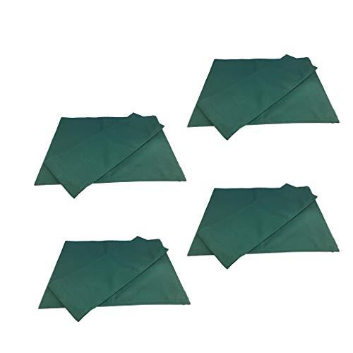 FLAMEER Tessuto di Supporto + Tessuto per Sedili Sedia Coprivolante Pieghevole - Verde (4 Set, 8 Pezzi in Totale)