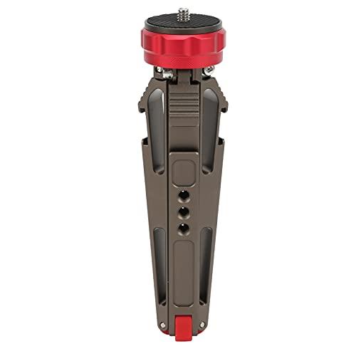 Trípode extensible para cámara de teléfono, mini trípode de escritorio multifuncional Soporte de mesa con soporte para teléfono, interfaz de extensión de micrófono, para uso en cámara de vapor en vivo