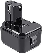 Tecmana 12V 4.0Ah batteri kompatibelt med Hitachi EB1212S EB1214L EB1220BL EB1220HS EB1222HL EB1226HL EB1230HL BCC1212