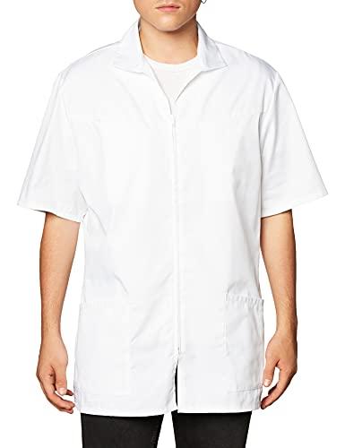 Cherokee Men's Zip Front Jacket, White, XX-Large