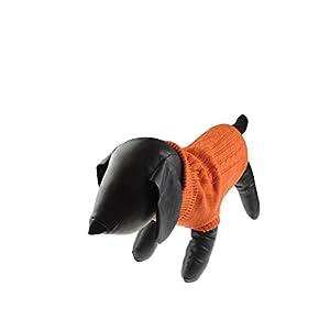 Super mignon Burnt Orange Tasse à thé jouet Races de chien Pull en tricot col roulé–existe en XS, S et M