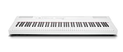 Yamaha P-125WH Digital Piano, weiß – Kompaktes elektronisches Klavier in schlichtem Design für perfekte Spielbarkeit – Kompatibel mit kostenloser App