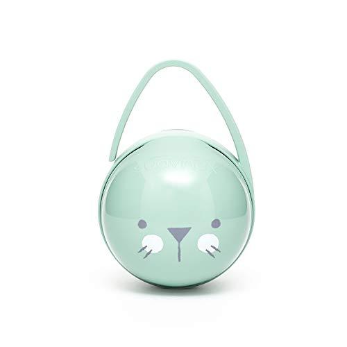 Suavinex - Portachupete premium bebé. Para llevar 2 chupetes. Caja Portachupetes portátil. Funda para chupetes. Color verde