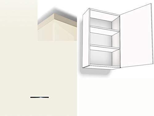 Premium-Ambiente BCF082 Hängeschrank 1-türig 2 Fachböden 72cm hoch Softclosing Montageschiene inklusive Hochglanz (Breite 60cm - Anschlag rechts, 82 Magnolia)