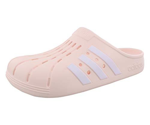 adidas Women's Adilette Clog Slide Sandal, Pink Tint/White/Pink Tint, 10