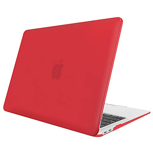 FINTIE Case for MacBook Air 13 Inch (2020 & 2019 & 2018 Release) A2179 / A1932 - Protective Snap On Hard Shell Cover for New MacBook Air 13 Retina Display with Touch ID, Red
