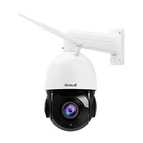 5MP PTZ WiFi Security Camera Outdoor, 20x Zoom Smart Surveillance IP Camera, 1000ft View Distance/SDM Array IR Night Vision/Detection Alarm / 2-Way Audio/SD Card Slot/ONVIF/ IP66 Waterproof Cameras Dome