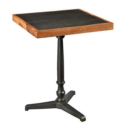 Casa Padrino Barock Beistelltisch Eisen/Holz 60 x 60 x H74 cm - Jugendstil Tisch