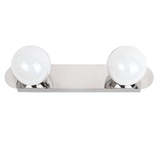 Aplique LED de pared para baño, sobre espejo, camerino, cromo brillo, led 2x3W y 600 lúmenes, estilo sencillo y elegante, tono de luz blanca neutra 4000K.