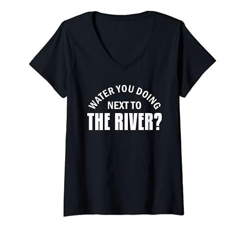 Mujer Cita de Trekking para una aventura senderismo senderismo Camiseta Cuello V