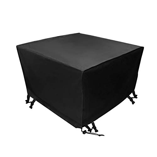 Xiliy Square Table Cover Outdoor Furniture 210D Polyester Waterproof Garden Tables and Chairs Furniture Cover Black 250 x 250 x 90cm
