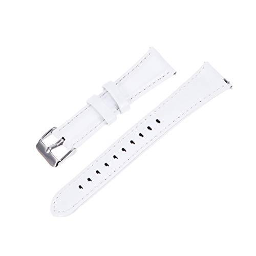 Hemobllo Pulseira de relógio de couro feminina compatível com Forerunner 245/645/Vivoactive 3 Music (Preta), Branco, Size 1