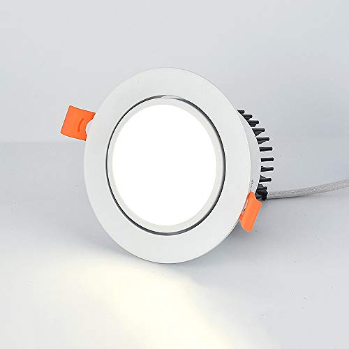 Sunny Lingt 10W lámpara de Downlight Negro/Impermeable