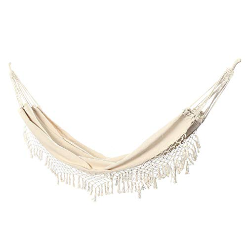 hammock 2 Person Hammock Large Brazilian Macrame Fringe Double Hammock Swing Net Chair Out/Indoor Hanging Hammock Swings