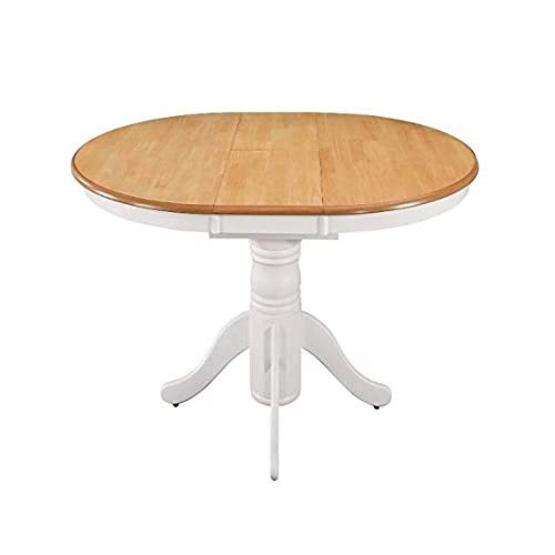 e79d05a0edfb Extending Dining Table Large Round Oval Kitchen Furniture Shabby Chic  Vintage Style Rustic Extendable Pedestal Farmhouse