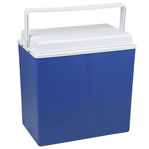 10 Liter Kühlbox - tragbar - mit Deckel - passiver Kühlbehälter - isoliert - blau - lebensmittelecht - Kunststoff Box für Lebensmittel oder Getränke - Camping Strand - Picknick - Zubehör - Kühltasche