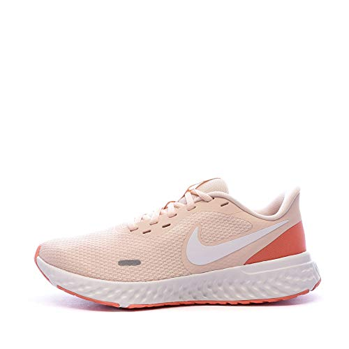 Nike Wmns Revolution 5, Zapatillas Deportivas Mujer, Washed Coral/Summit Blanco-Magic Ember, 37.5 EU