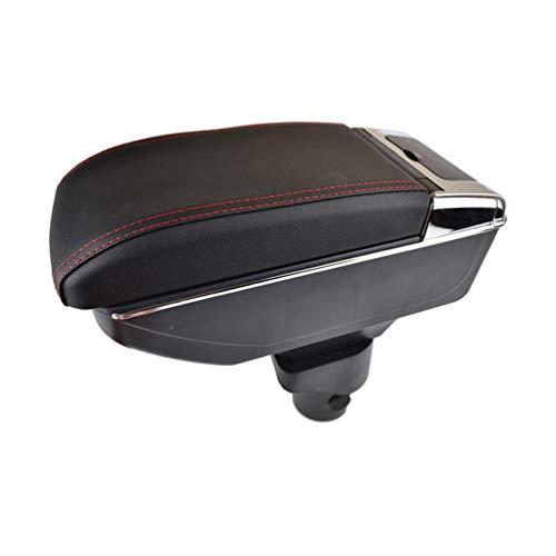 JABL PU Cuero Coche Apoyabrazos Caja, para Nissan Versa Sedan Latio Sunny 2012-2018 Dual Layer Central Consolas Impermeable Almacenamiento Armrests Storage Box, Car Interior Styling Accesorios
