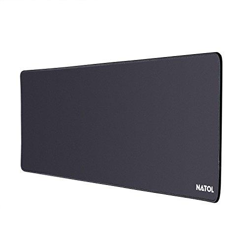NATOL Gaming Mauspad, 800 x 300 mm LargeMousePad, Mausunterlage mit Glatter Oberfläche, Anti Rutsch und Wasserfeste Unterseite aus Gummi, für Tastatur und Maus