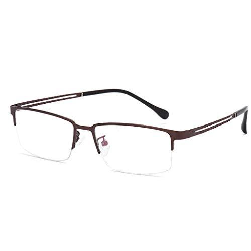 Gleitsichtbrille Computerbrille Zum Lesen, Blaulicht-Schutzbrille Mit Intelligenter Klarer Multifokallinse, Sicherheits-Multifokus-Brille Mode Frauen Männer Enthält Elegante Unisex-Halbrahmen