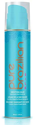 PURE BRAZILIAN - SILK Smoothing Balm With Keratin, Hydrolyzed Silk & Coconut Oil (6.78oz)