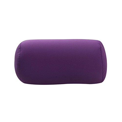 uminilife 31x17cm Micro Mini Microbead Roll Pillow Neck Column Pillows Squishy Mooshi Beads Offer Comfort & Support for Travel (Purple)