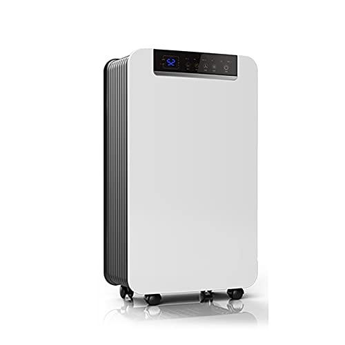 Deshumidificador fácil de mover para el hogar y sótanos, baño, dormitorio, cocina, armario, RV con manguera de drenaje, temporizador de tanque de agua, descongelación automática