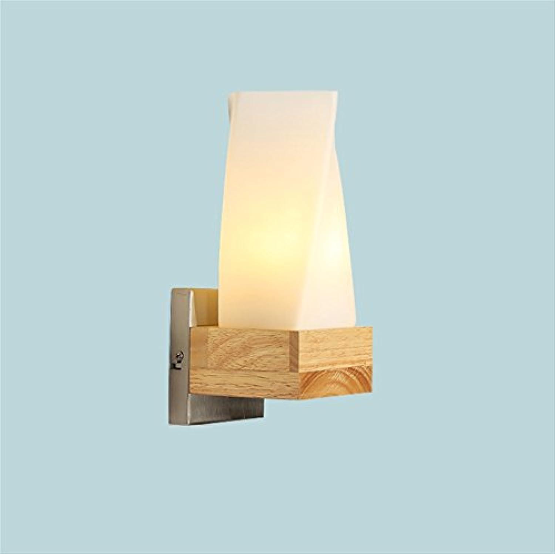 Nordic Massivholz Wandleuchte Einfache Moderne Nachttischlampe Schlafzimmer Lampe Korridor Holz Gangbeleuchtung